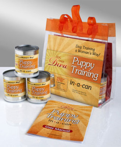puppy training cans set from dogtalkstore.com